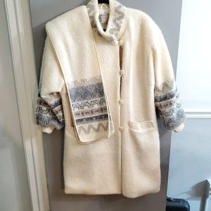 VTG Hilda Ltd. Iceland Wool Long Coat Fair Isle